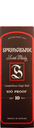 Springbank 10 years 100 Proof 70cl