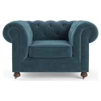 Notting Hill Velvet Chesterfield Armchair
