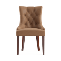 Espen® Leather Scoop Back Dining Chair