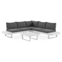 Wailea Outdoor 5 Seater Modular Sofa Set with Coffee Table