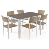 Nelayan - Malibu 6 Seater Outdoor Dining Set