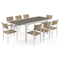 Nelayan - Malibu Extendable 8 Seater Outdoor Dining Set