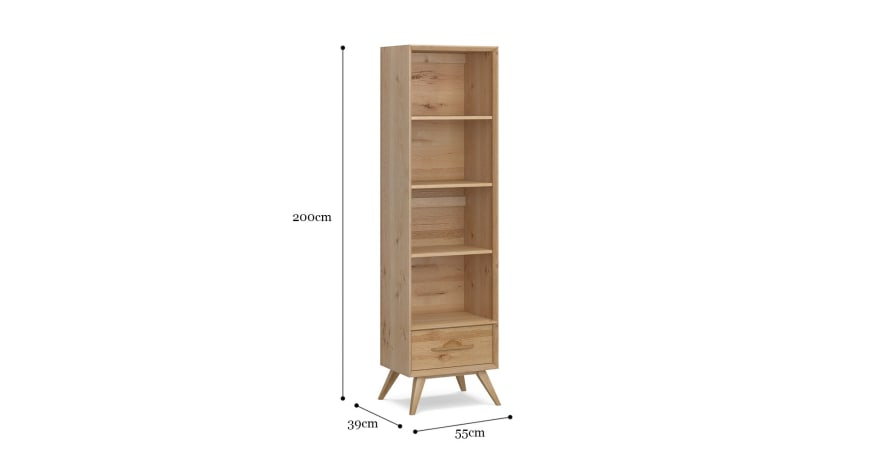 Hans Narrow Bookcase