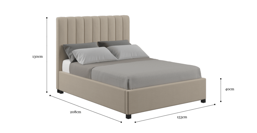 Megan Double Gaslift Bed Frame