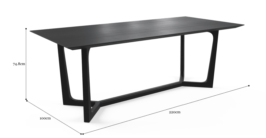 Trapez Dining Table 220cm