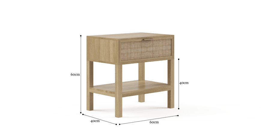 Caledonia Rattan Bedside Table