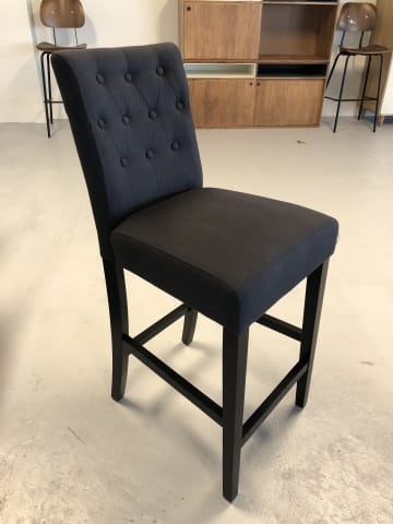Espen bar stool night black w dark black solid beech 05