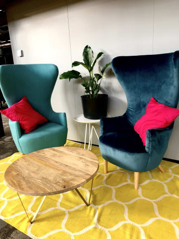 Globe armchair petal turquoise peacock teal