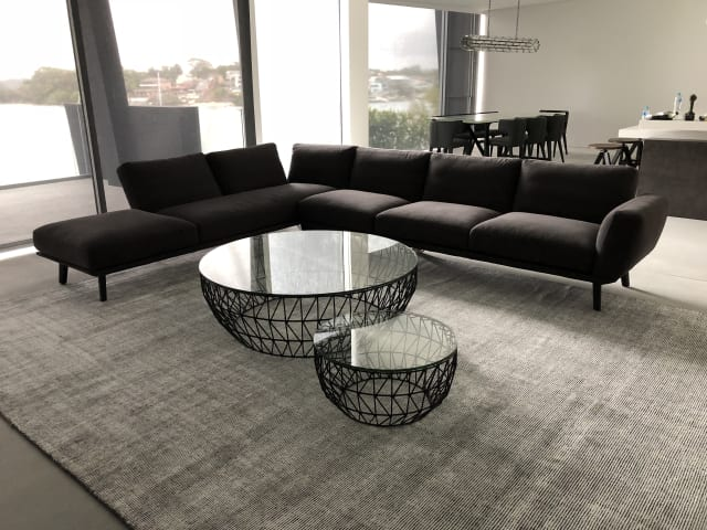 Bass coffee table bass end table black