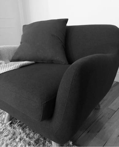 Otto armchair charcoal