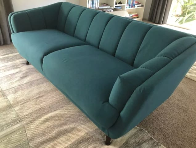 Percy 3 seater sofa teal blue 01