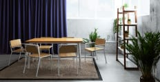Bell Dining Table and Grammar Dining Set of 4 Chairs