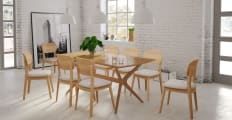 Dining Set Elizabeth Table 8x Mia Dining Chairs