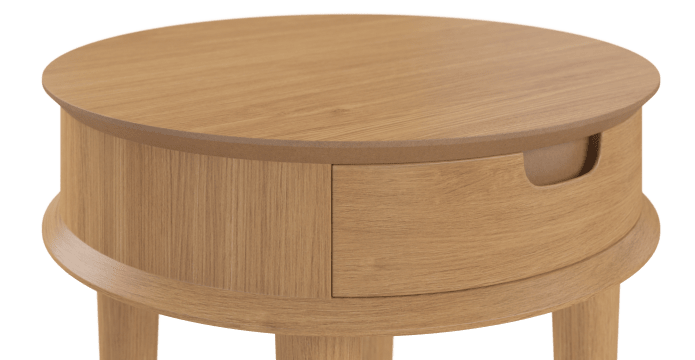Mia Lamp Table with Drawer