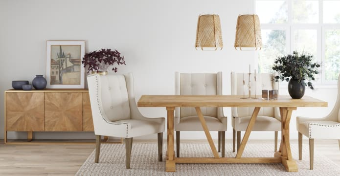 Chablis Trestle Dining Table 200cm