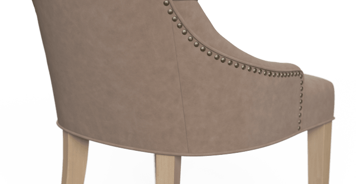 Zoe Leather Dining Chair Scoop Back