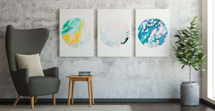 The Marble Triptych Set of 3