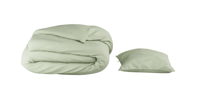 Pima Cotton Green Lily Duvet Cover Set