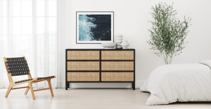 Caledonia Rattan Large Chest of Drawers