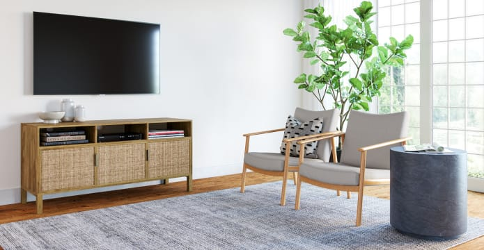Caledonia Rattan Compact Entertainment Unit