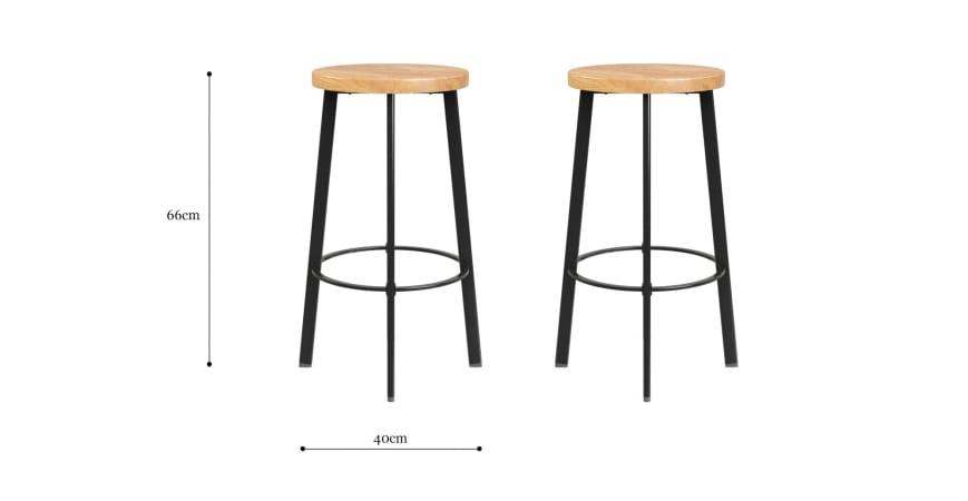Wentworth Set of 2 Bar Stools