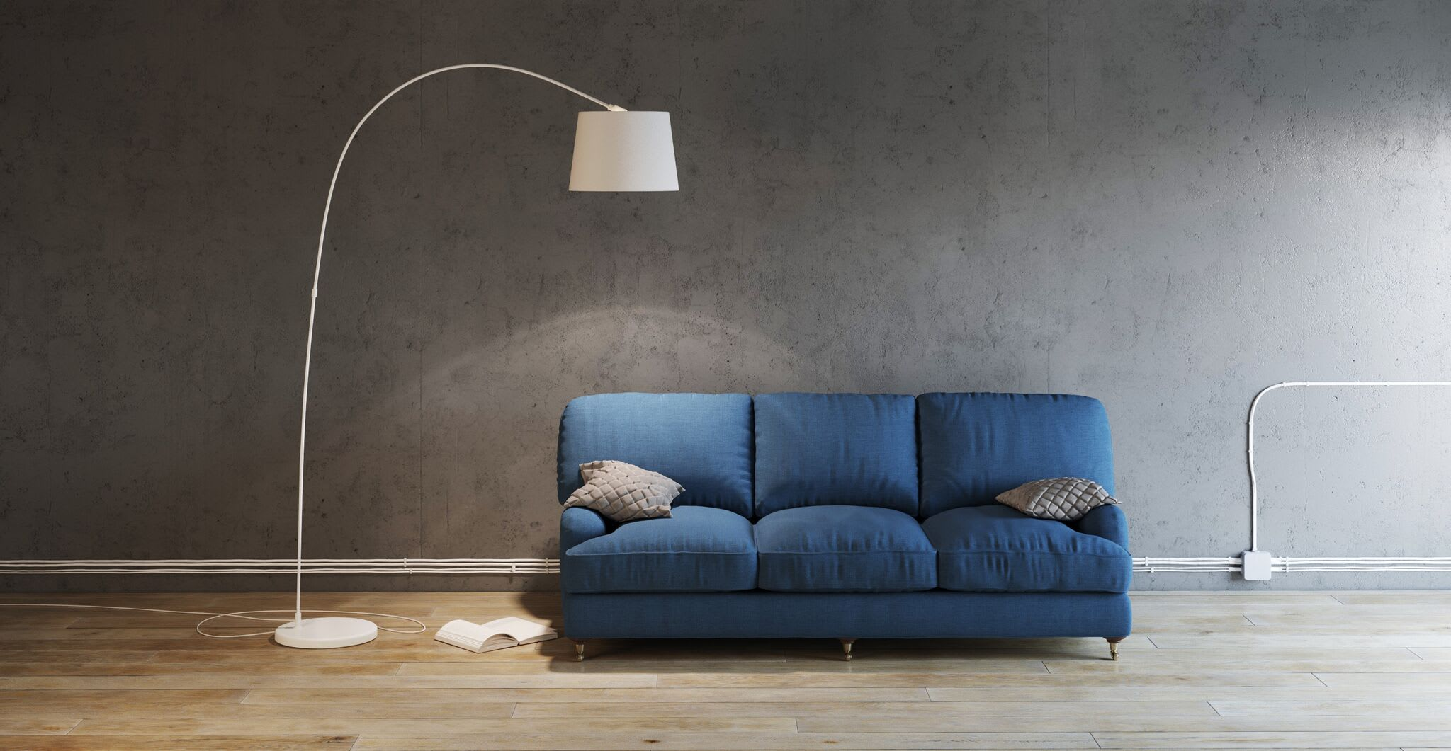 A minimal sofa in a waiting space