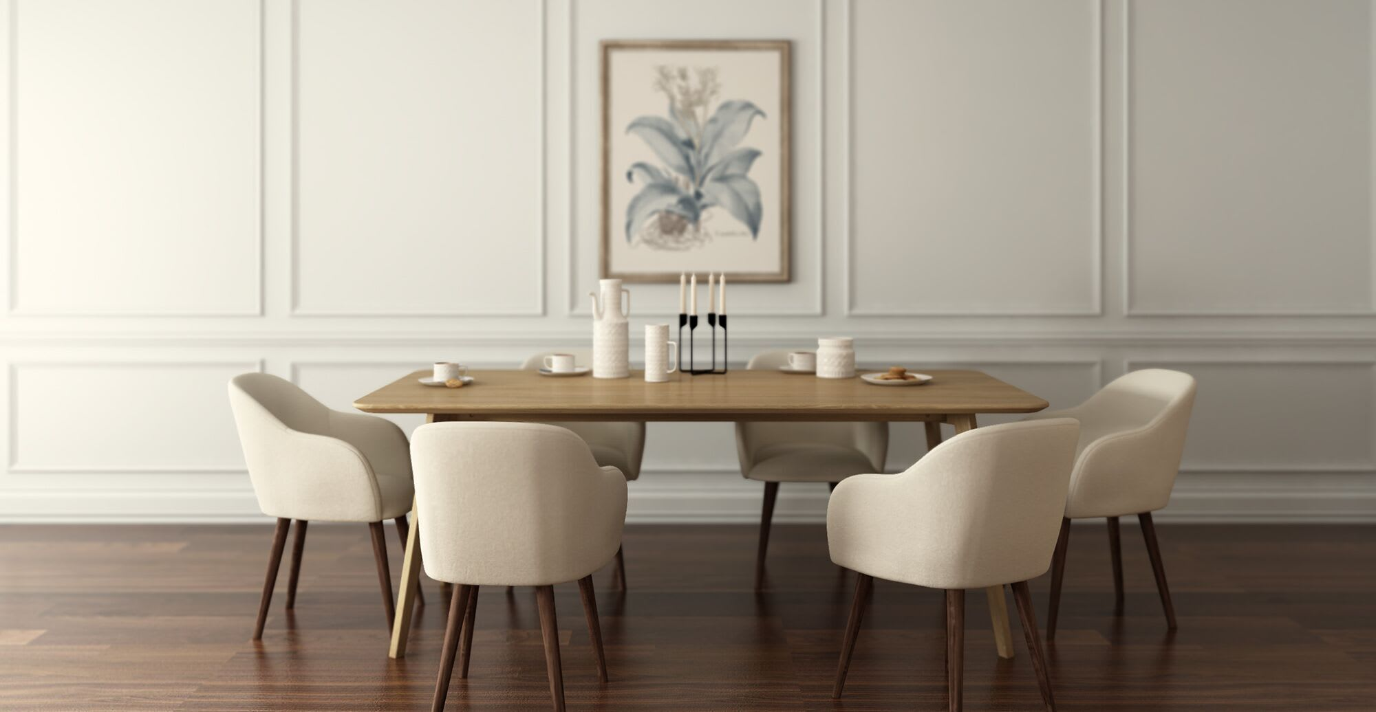 a seasonal themed dining room