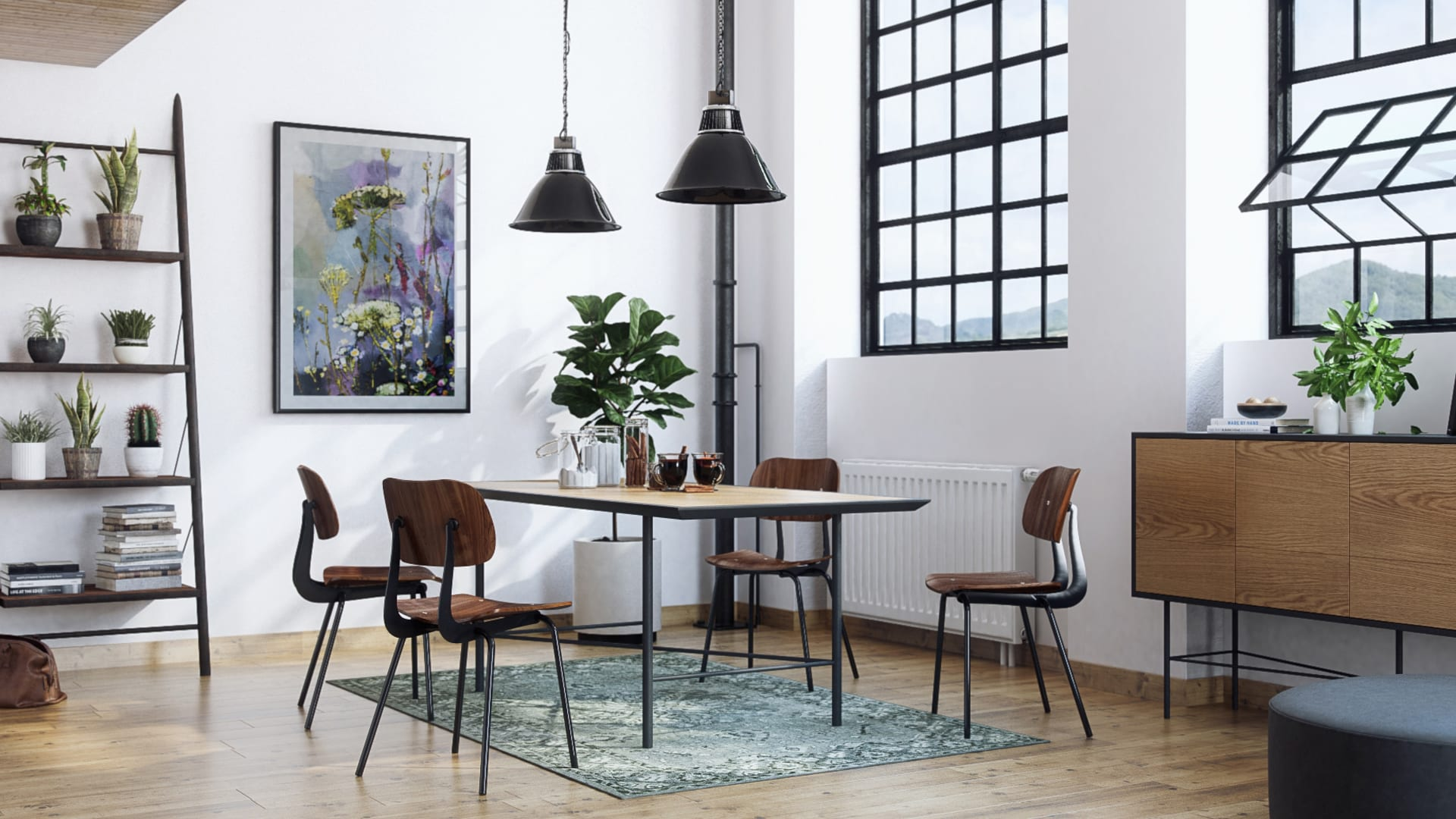 Kensal dining chair prato dining table