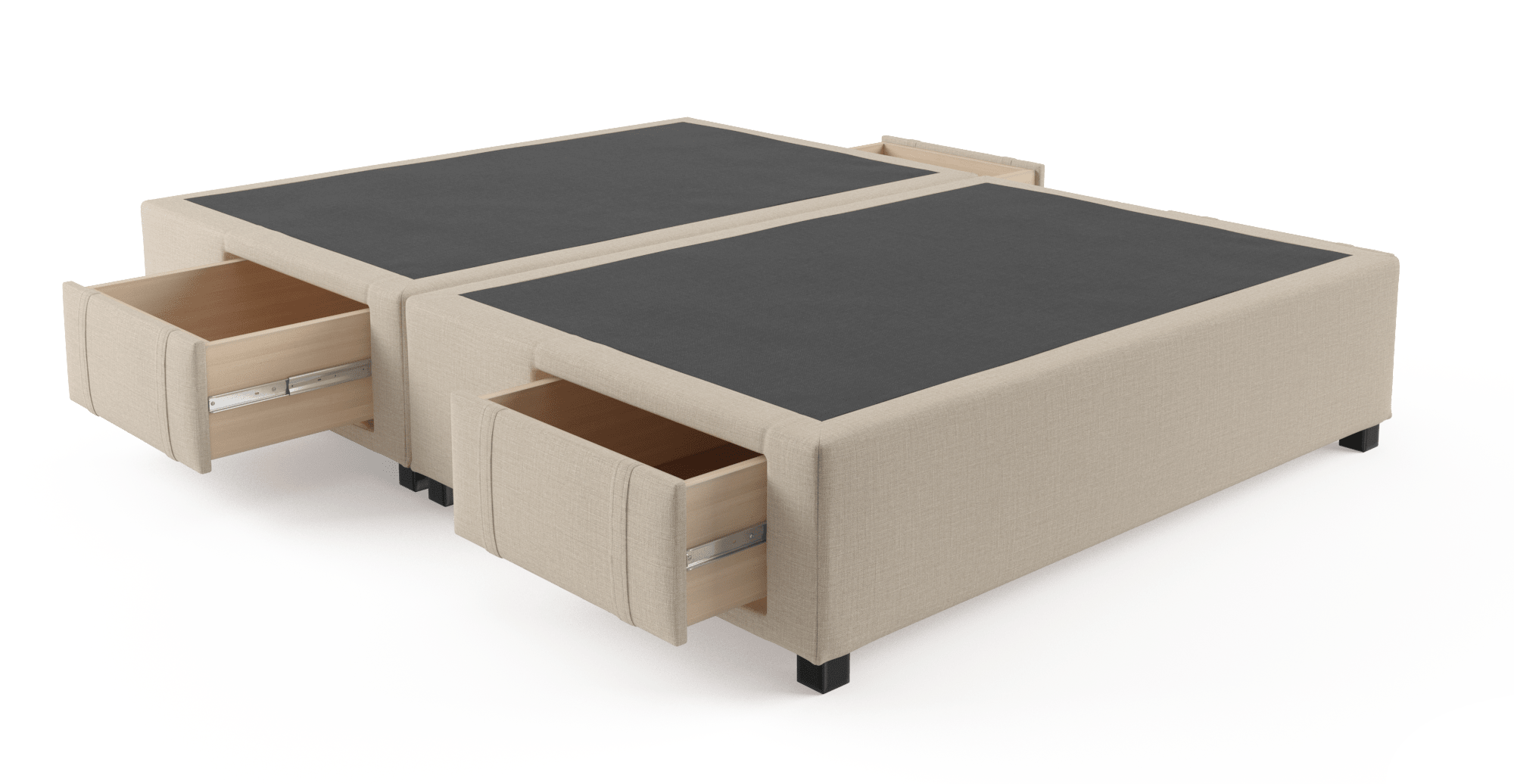 Queen Bed Frame With Storage.Queen Size Upholstered Bed Base With Drawers