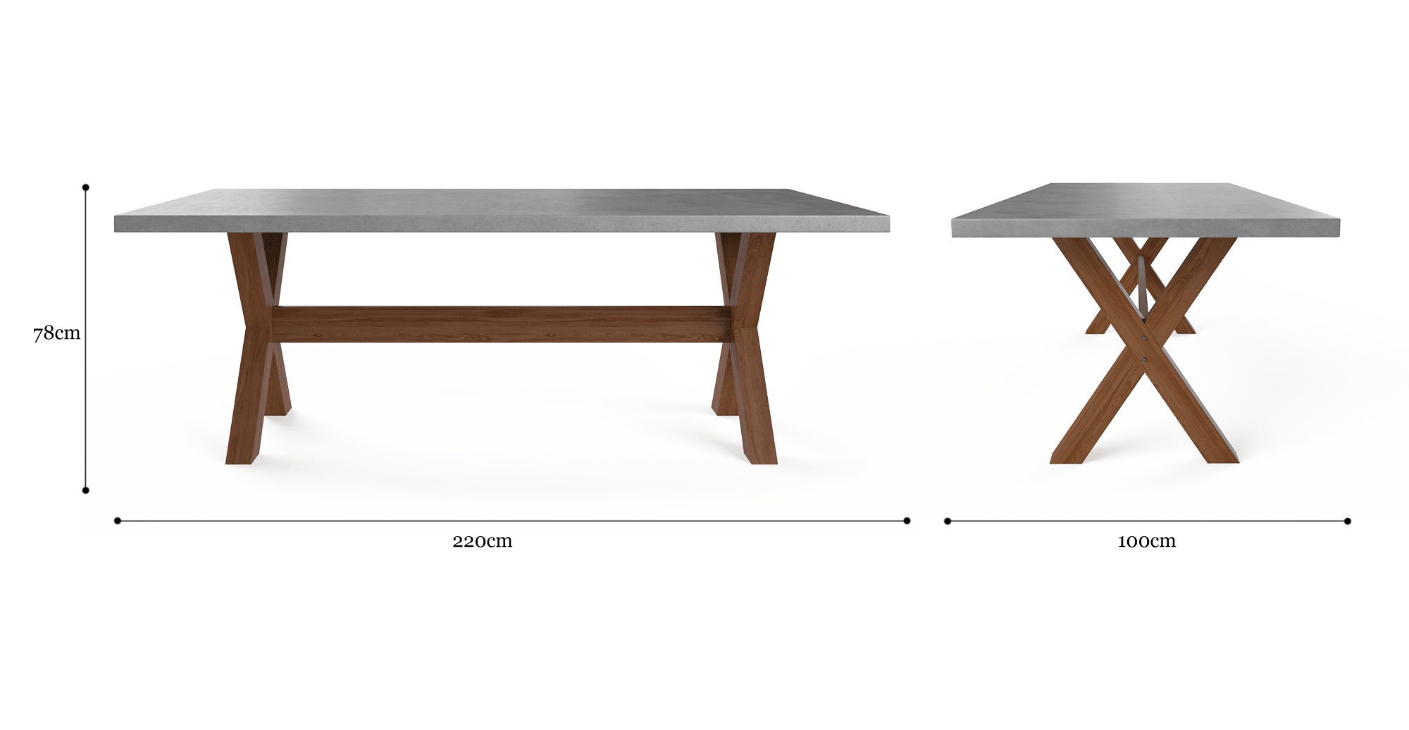 Astonishing Pampero Concrete Dining Table 220Cm Ocoug Best Dining Table And Chair Ideas Images Ocougorg