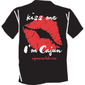 Kiss Me I'm Cajun T-shirt - Small