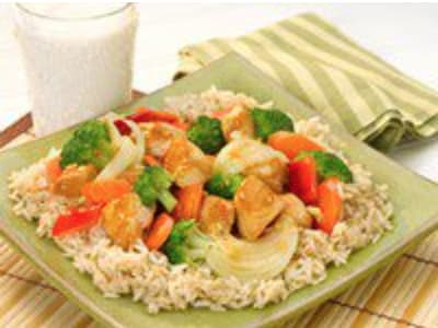 brown rice & chicken recipe
