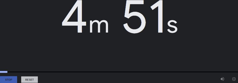 Besoin d'un chronomètre ou d'un timer en ligne  ? Google vous l'offre.
