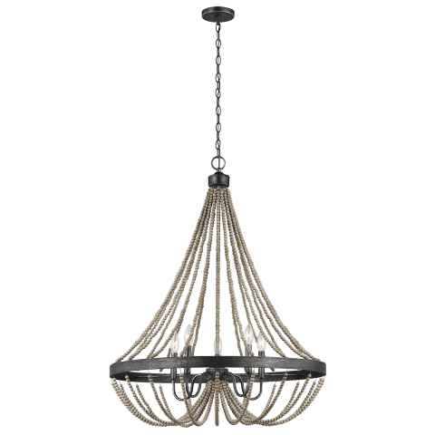 Oglesby Five Light Chandelier Washed Pine Bulbs Inc