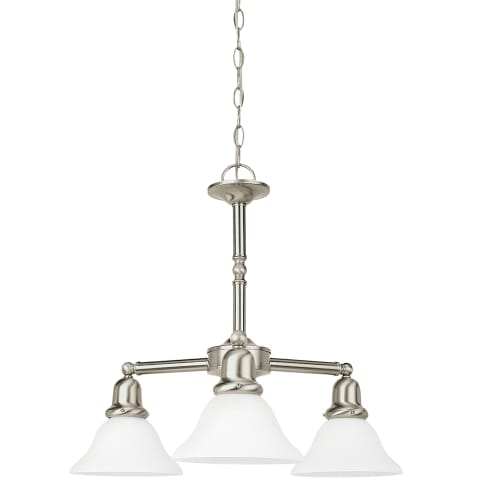 Sussex Three Light Chandelier Brushed Nickel