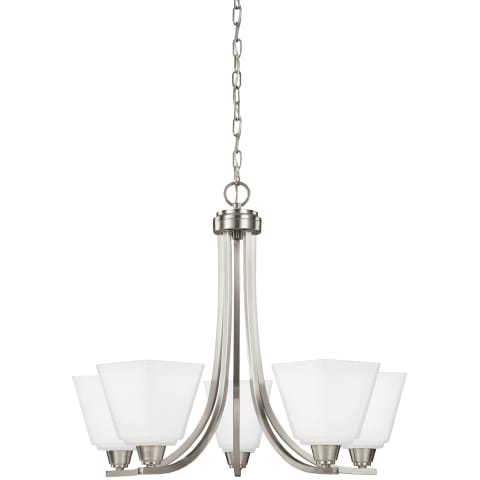 Parkfield Five Light Chandelier Brushed Nickel