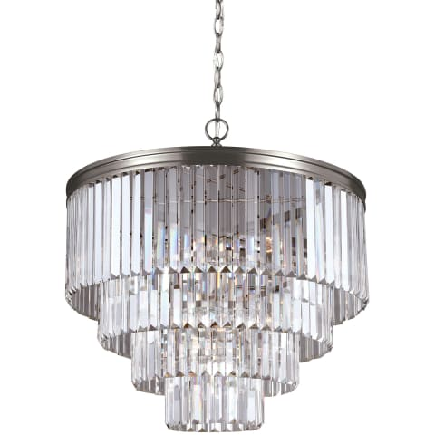 Carondelet Six Light Chandelier Antique Brushed Nickel