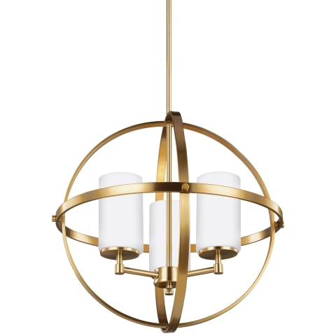 Alturas Three Light Chandelier Satin Bronze