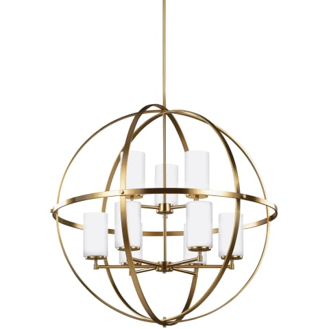 Alturas Nine Light Chandelier Satin Bronze