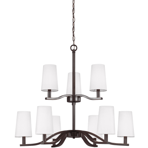 Nance Nine Light Chandelier Heirloom Bronze