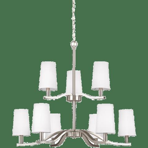 Nance Nine Light Chandelier Brushed Nickel Bulbs Inc