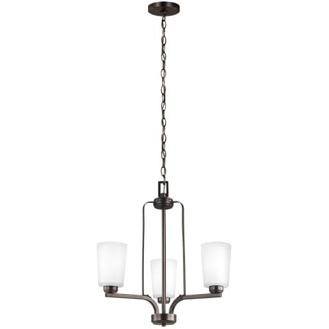 Franport Three Light Chandelier Bronze Bulbs Inc