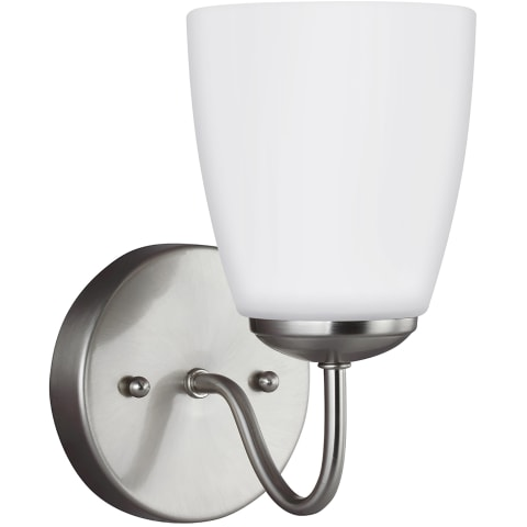 Bannock One Light Wall / Bath Sconce Brushed Nickel