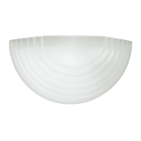 Stepped Glass One Light Wall / Bath Sconce White