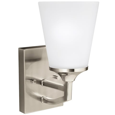 Hanford One Light Wall / Bath Sconce Brushed Nickel