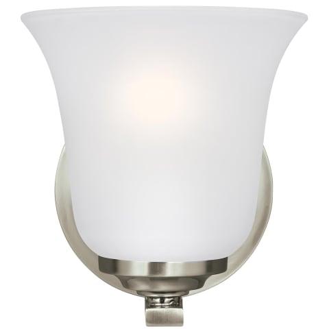 Emmons One Light Wall / Bath Sconce Brushed Nickel Bulbs Inc