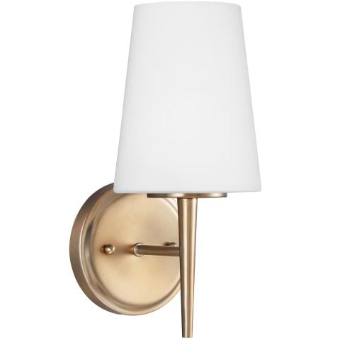Driscoll One Light Wall / Bath Sconce Satin Brass Bulbs Inc