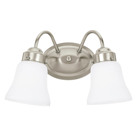 Westmont Two Light Wall / Bath Brushed Nickel Bulbs Inc