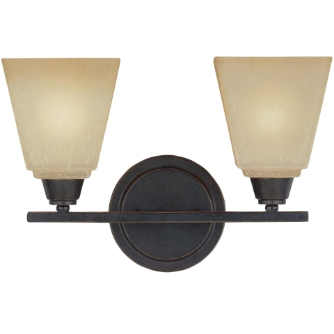 Parkfield Two Light Wall / Bath Flemish Bronze Bulbs Inc
