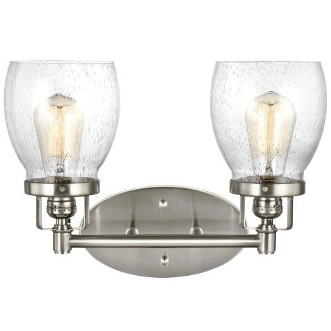 Belton Two Light Wall / Bath Brushed Nickel